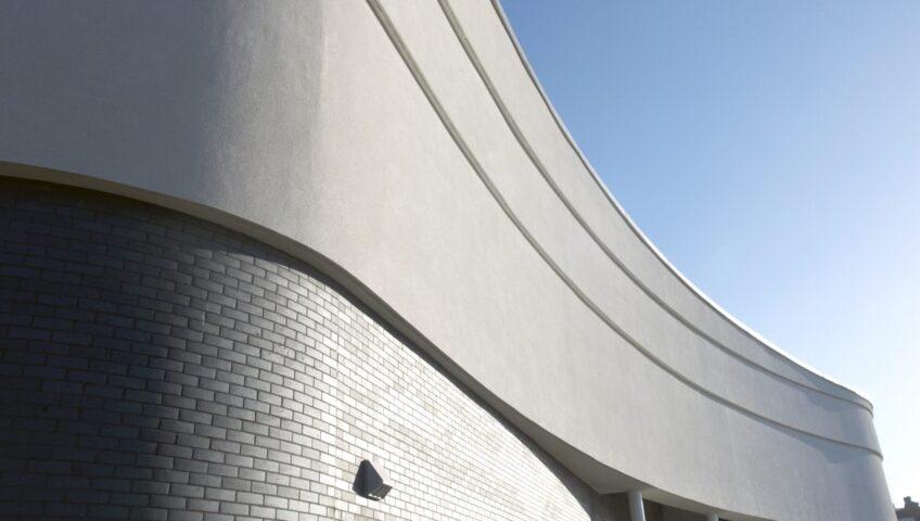 Rendered facade