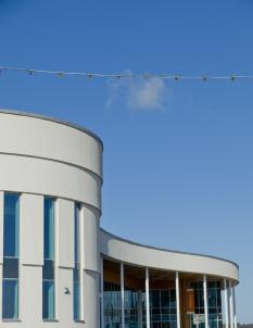 Bridlington Leisure rainscreen cladding system