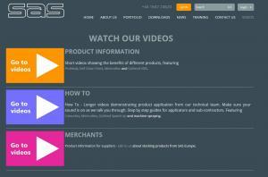 SAS video page