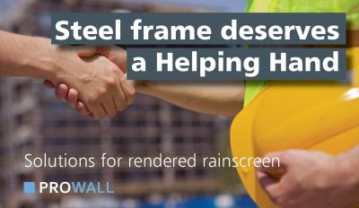 rainscreen cladding on steel frame